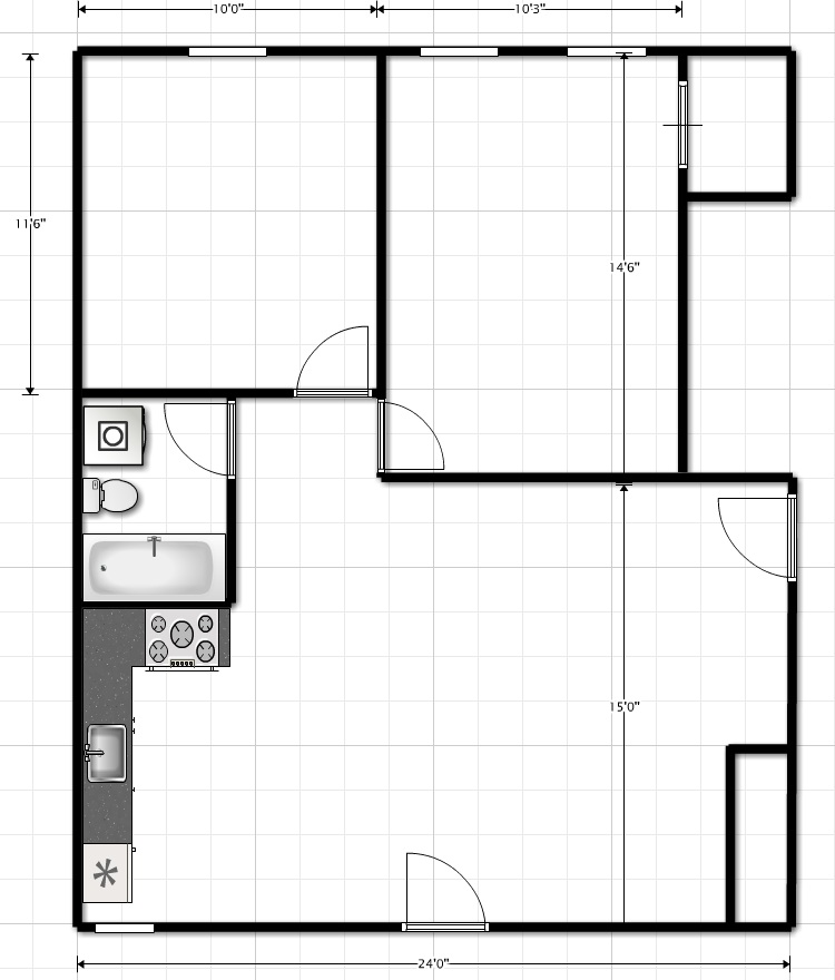 Average 2br Layout (option 1)